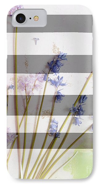 Wildflowers And Stripe IPhone Case by WALL ART and HOME DECOR