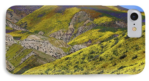 Wildflowers Galore At Carrizo Plain National Monument In California IPhone Case