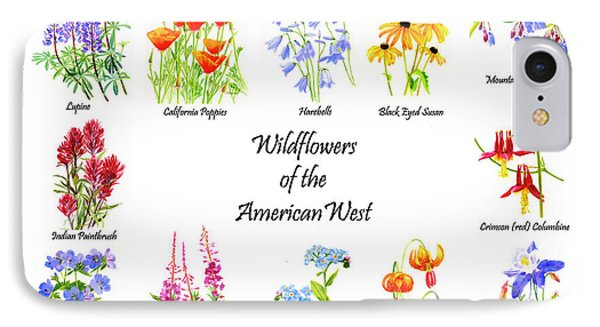 Wildflowers Of The American West Poster IPhone Case
