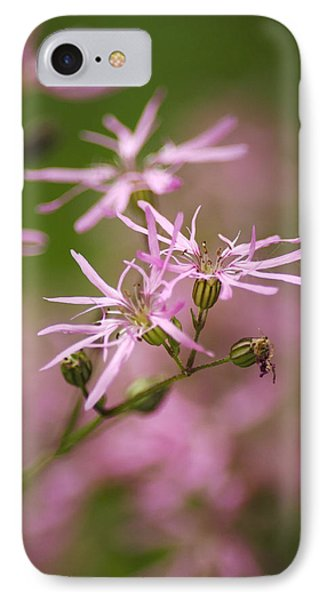 Wildflowers - Ragged Robin Phone Case by Christina Rollo