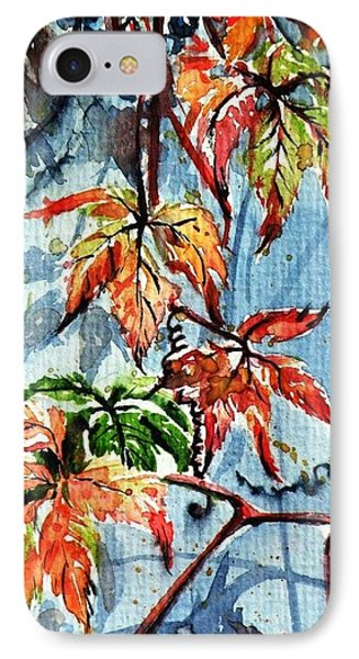 IPhone Case featuring the painting Wildgrape by Kovacs Anna Brigitta