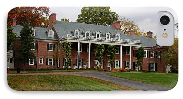 Wildwood Manor House In The Fall IPhone Case by Michiale Schneider