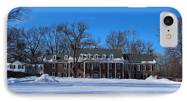 Wildwood Manor House In The Winter IPhone Case by Michiale Schneider