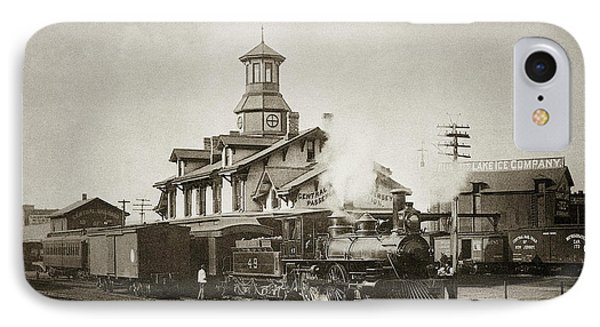 Wilkes Barre Pa. New Jersey Central Train Station Early 1900's IPhone Case