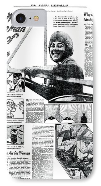 Will Woman Drive Man Out Of The Sky?  1911 IPhone Case