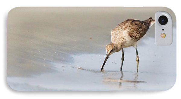 IPhone Case featuring the photograph Willet On Beach by Bob Decker