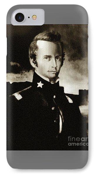 William B Travis - The Alamo IPhone Case by Ian Gledhill