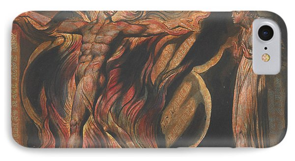 Jerusalem, Plate 26, Such Visions Have.... IPhone Case by William Blake