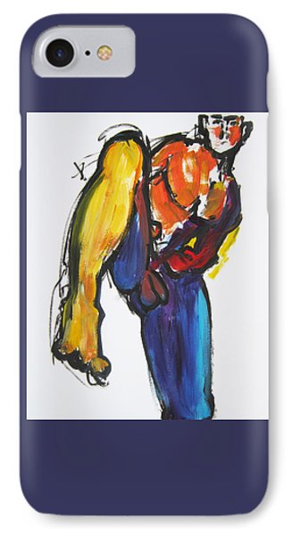 IPhone Case featuring the painting William Flynn Kick by Shungaboy X