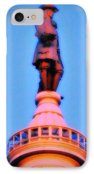 William Penn - City Hall In Philadelphia IPhone Case by Bill Cannon