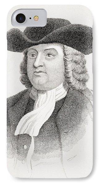 William Penn 1644-1718 English Quaker IPhone Case