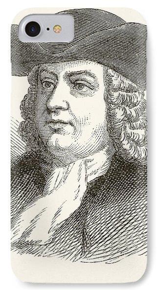 William Penn 1644 To 1718, English IPhone Case