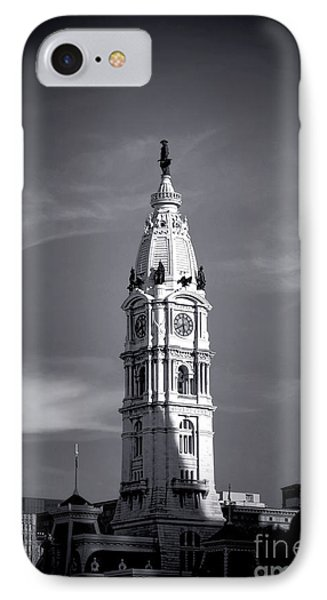 William Penn Above Philadelphia City Hall IPhone Case by Olivier Le Queinec