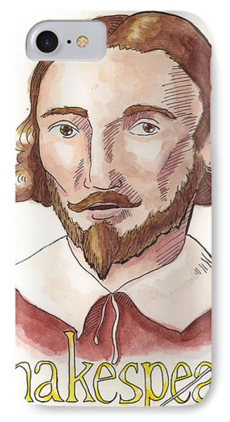 William Shakespeare IPhone Case by Whitney Morton