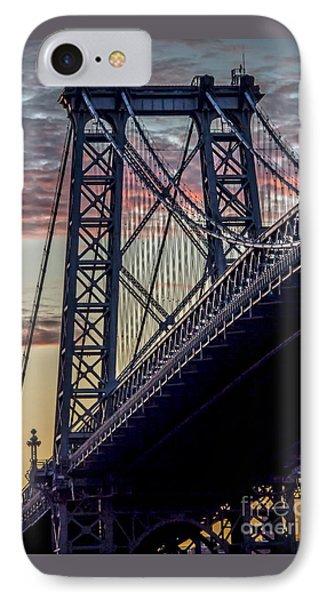Williamsburg Bridge Structure IPhone Case by James Aiken