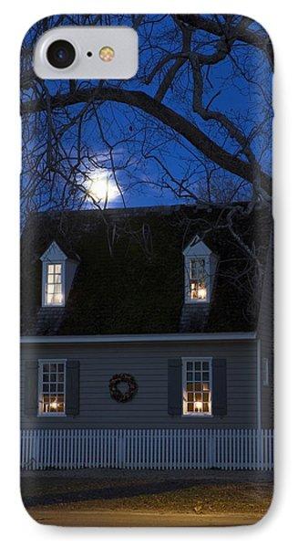 Williamsburg House In Moonlight IPhone Case