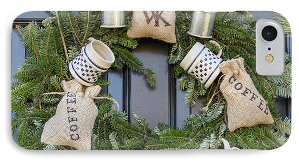 Williamsburg Wreath 94 IPhone Case by Teresa Mucha