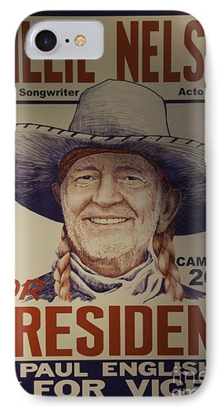 Willie For President IPhone Case by Bob Hislop
