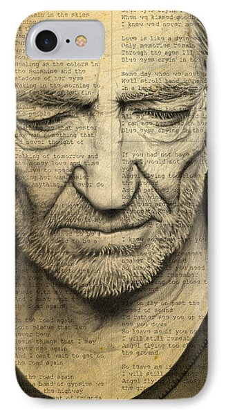 Willie Nelson Drawing IPhone Case