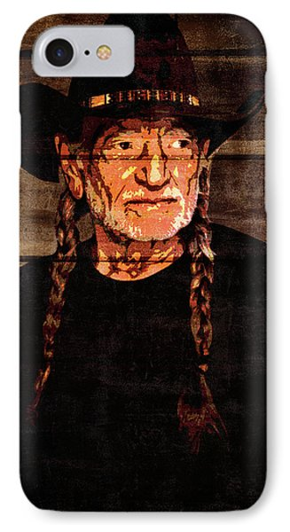 Willie Nelson Grunge Barn Door IPhone Case by Dan Sproul