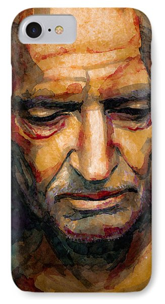 Willie Nelson Portrait 2 IPhone Case by Laur Iduc