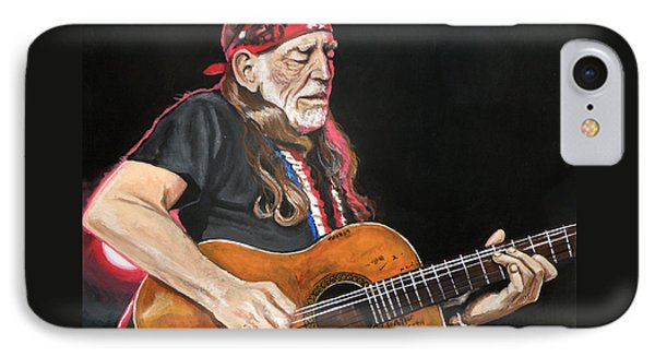 Willie Nelson Phone Case by Tom Carlton