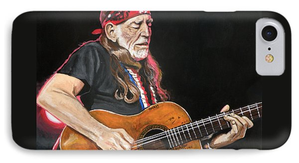 Willie Nelson IPhone Case by Tom Carlton