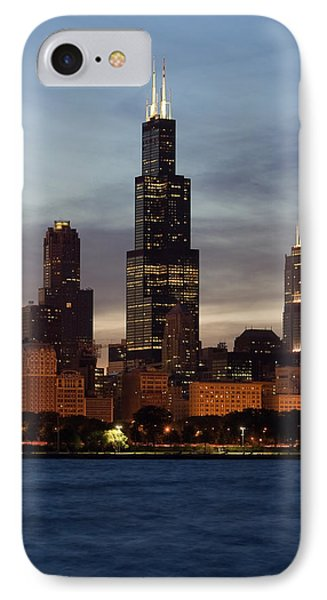 Willis Tower At Dusk Aka Sears Tower IPhone Case