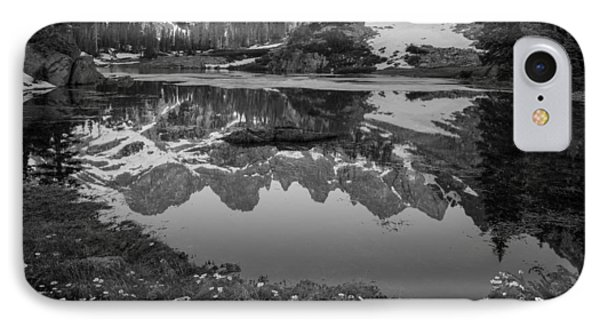 Willow Lake Black And White IPhone Case by Aaron Spong