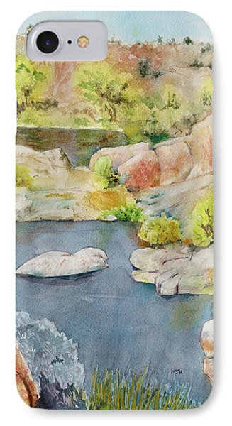 Willow Lake, End Of Summer  IPhone Case by Melanie Harman