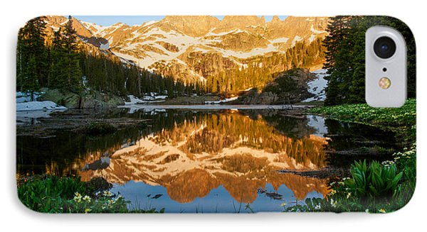 Willow Lake Sunrise IPhone Case by Aaron Spong