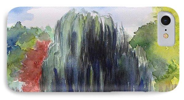 Willow Tree -2  Hidden Lake Gardens -tipton Michigan IPhone Case by Yoshiko Mishina