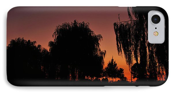 Willow Tree Silhouettes IPhone Case by Joe  Ng