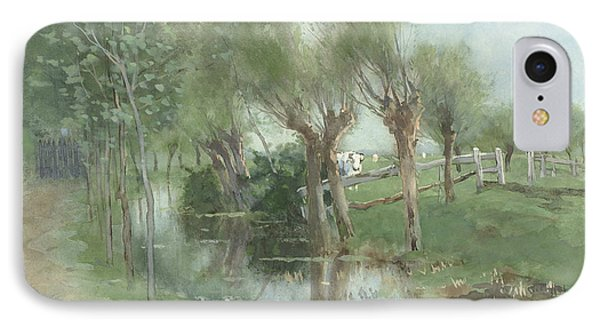 Willows In A Ditch IPhone Case
