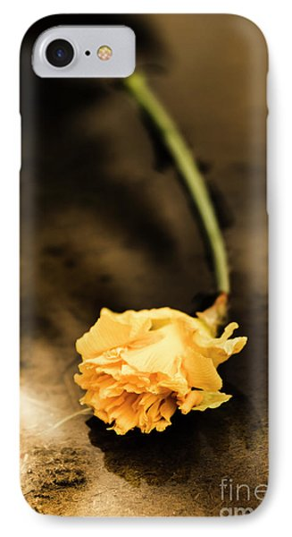 Wilting Puddle Flower IPhone Case