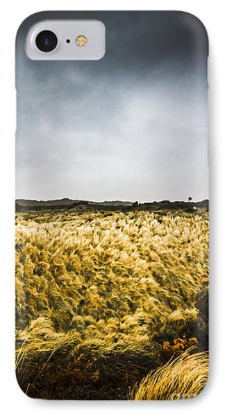 Wind Blown Grassland  IPhone Case by Jorgo Photography - Wall Art Gallery