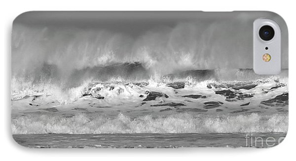 IPhone Case featuring the photograph Wind Blown Waves by Nicholas Burningham