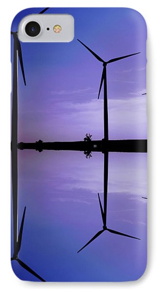 Wind Energy Turbines At Dusk IPhone Case by Bob Pardue