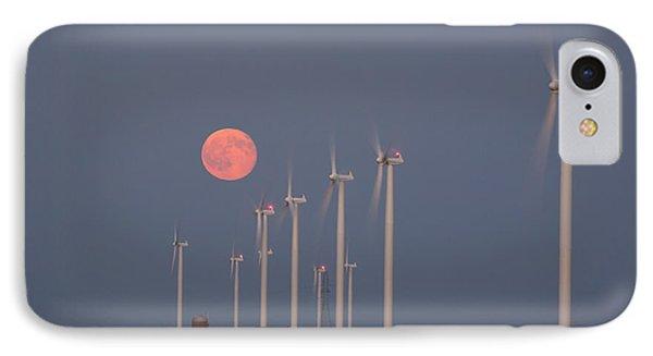 Wind Farm Moonrise IPhone Case by Alexey Stiop