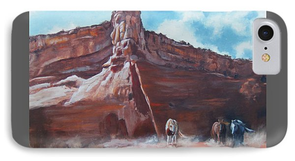 IPhone Case featuring the painting Wind Horse Canyon by Karen Kennedy Chatham
