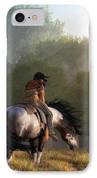IPhone Case featuring the digital art Wind Of The Forest by Daniel Eskridge