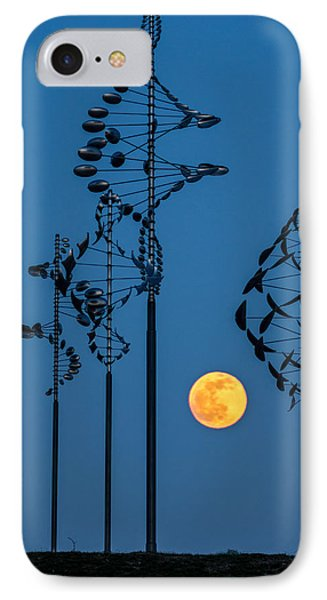Wind Sculptures At Wilkeson Pointe IPhone Case