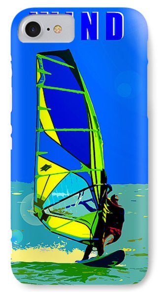 Wind Surfer Poster IPhone Case