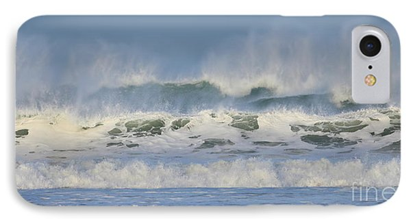 IPhone Case featuring the photograph Wind Swept Waves by Nicholas Burningham