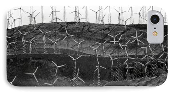Wind Turbine Farm IPhone Case by Jeff Lowe
