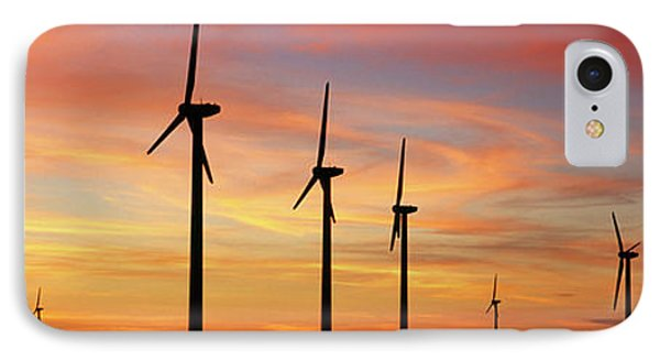 Wind Turbine In The Barren Landscape IPhone Case by Panoramic Images