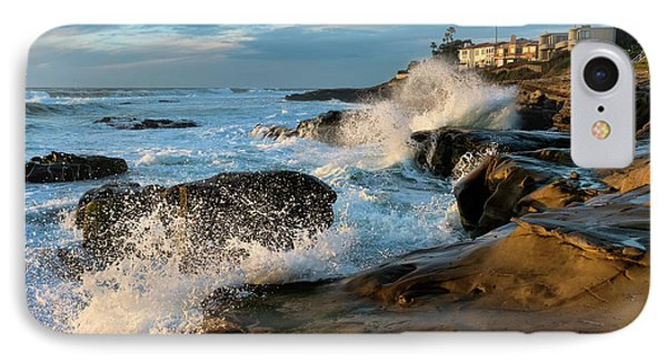 IPhone Case featuring the photograph Windansea Beach At High Tide by Eddie Yerkish