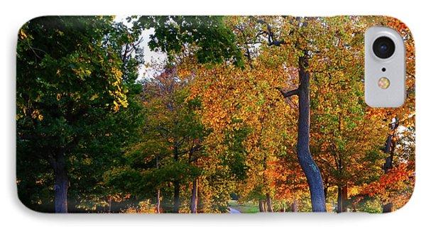 Winding Road In Autumn IPhone Case