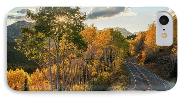 Winding Road Through Big Cottonwood Canyon IPhone Case