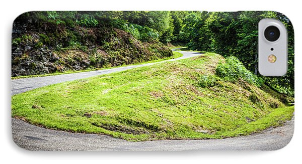IPhone Case featuring the photograph Winding Road With Sharp Bend Going Up The Mountain by Semmick Photo